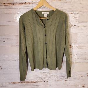 Croft & Barrow green cardigan sweater
